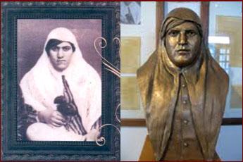 تندیس و عکس زینبپاشا در موزه مشروطه تبریز