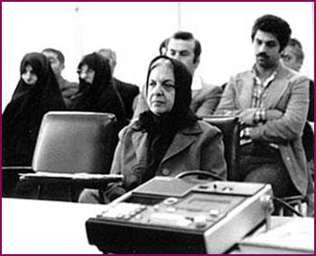 فرخرو پارسا در دادگاه بعد انقلاب. عکس از موسسه پژوهشهای سیاسی