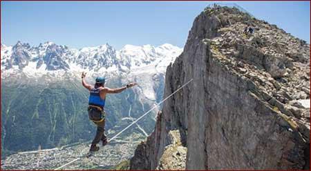 بندبازی در کوههای فرانسه
